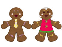 Couple of gingerbread. Stock Images