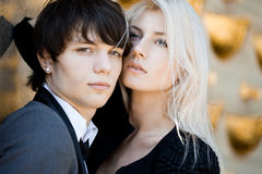 Couple - girl and guy Royalty Free Stock Photos