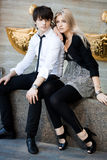 Couple - girl and guy Royalty Free Stock Photography
