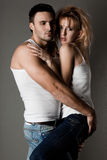Couple - girl and guy Stock Photo