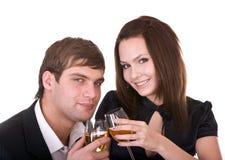 Couple of girl and man. Stock Photos
