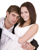 Couple of girl and man. Love . Stock Images