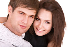 Couple of girl and man. Love. Stock Photography