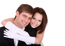 Couple of girl and man. Love. Royalty Free Stock Images