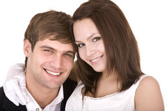 Couple of girl and man. Love and passion. Royalty Free Stock Photography