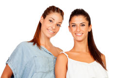 Couple of girlfriends Royalty Free Stock Images