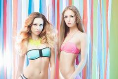 Couple girls in bikini Stock Image