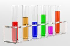 Couple of glas test tubes Stock Photos