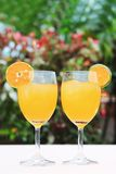 A couple glass of fresh orange juice Stock Photo