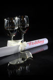 Couple glass with wedding Stock Image