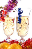 Couple glasses of champagne Stock Image