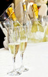 Couple of glasses of champagne Stock Photography