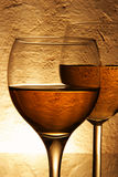 Couple glasses of wine Royalty Free Stock Photo