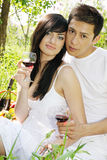 Couple with glasses Royalty Free Stock Photos