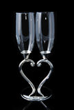 Couple goblets of love heart Royalty Free Stock Photography
