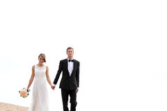 Couple goes hand in hand Royalty Free Stock Images