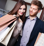 Couple goes shopping Royalty Free Stock Image