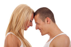 Couple going head to head Royalty Free Stock Images