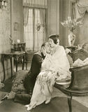 Couple going through sad time Royalty Free Stock Photo