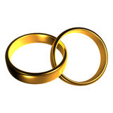 Couple of gold wedding rings Stock Images