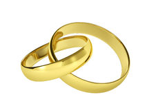 Couple of gold wedding rings Stock Photo