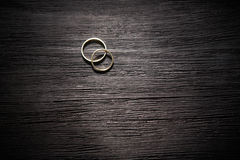 Couple of gold wedding rings Royalty Free Stock Photos