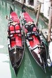Couple of gondola in Venice royalty free stock photos