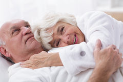 Couple and good sex life. Image of elderly couple and good sex life royalty free stock photo