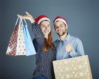 Couple got some present bags Stock Photos