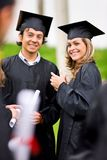 Couple of graduates Royalty Free Stock Images