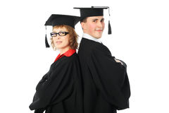 Couple of graduates Royalty Free Stock Image