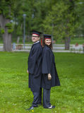 Couple in the Graduation Day Royalty Free Stock Photography