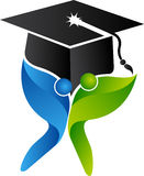 Couple graduation logo Stock Image