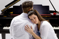 Couple with Grand piano 3 Stock Image