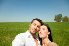 Couple on green Royalty Free Stock Photography