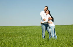 Couple on green Royalty Free Stock Photos