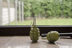 Couple of Grenades Stock Photo