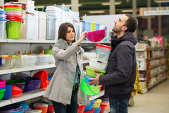 Couple At Groceries Store Stock Photography