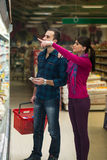 Couple At Groceries Store Stock Photos