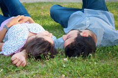 Couple on the ground Royalty Free Stock Photo