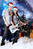 Couple with a guitar Stock Photos