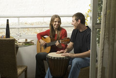 Couple with Guitar Royalty Free Stock Image