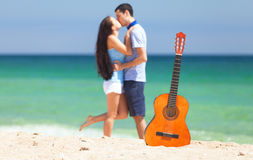 Couple with guitar Stock Photography