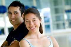 Couple at the gym Royalty Free Stock Photos