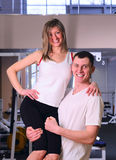 Couple in gym Stock Photography
