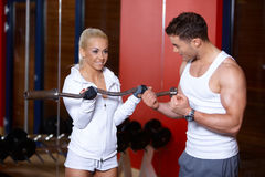 Couple at the gym royalty free stock photography