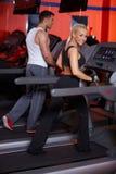Couple at the gym stock photos