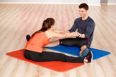 Couple at the gym Stock Image