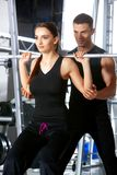 Couple at the gym Royalty Free Stock Photo