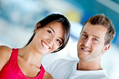 Couple at the gym Royalty Free Stock Images